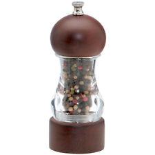 "Chef Specialties 6"" Walnut & Acrylic Vanguard Pepper Mill / Grinder"