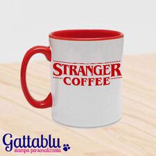 Tazza Stranger Coffee, Stranger Things inspired divertente, rossa