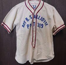 288ebd18723 Vintage Wool Baseball Jersey Roy B Salliotte Post 319 Ecorse MI American  League