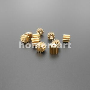 5PCS 0.5M 102A Brass Gear 0.5 Modulus T=10 Aperture 2mm 1.95MM 10T 10 Teeth 5MM