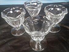 Set of 4 Sherbet Glasses Crystal Clear Ice Cream Sundae Glasses
