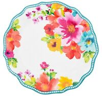The Pioneer Woman Breezy Blossoms Bouquet Dinner Plate Melamine 10.75 Inch Teal