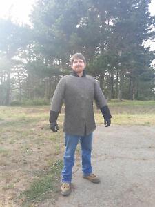 Chainmail Haubergeon ~ Flat Riveted ~ Mild Steel ~ XL ~ Hauberk