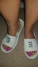 Hotel womens slippers well worn condition Size 8