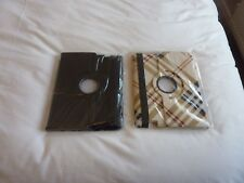 2 x FLIP iPad 360 Rotating CASE COVERS for IPAD 2/3/4  Black and Checked