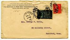 NEW YORK-Dplx Cxl-Special Delivery Cover-Hartford+New York Transportation Co-'98