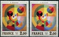 """FRANCE STAMP YVERT N°1869 """"DELAUNAY SUPERBE VARIETE TRIANGLE BLANC"""" NEUF xx LUXE"""