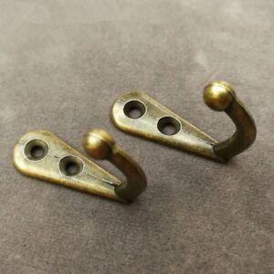 5X Antique Brass Hook Wall Door Hanger Hat Bag Robe Alloy Hooks