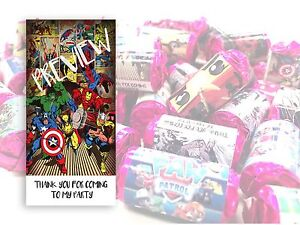 Marvel Mini Love Hearts Sweets Party Bag Fillers Kids Childrens Thank you #6