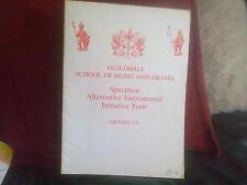 Specimen Alternative Instrumental Initiative Tests 1-8 Guildhall School Music
