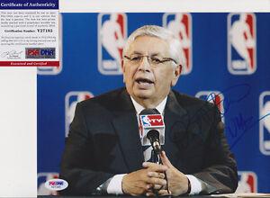 David Stern NBA Commissioner Signed Autograph 8x10 Photo PSA/DNA COA #3