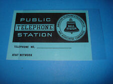 Payphone Flag card and plastic Western Electric 3 slot pay phone