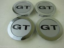 "Buick GM Chevy 2.5""  Center Caps SLP GT Logo Cap CHROME  3"" OD Set of 4"