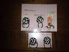 Rock Your Baby, Baby Leopard Print Elastic Band Set By billies Bows