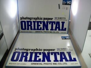 """2 BOXES OF 50 ORIENTAL PHOTOGRAPHIC PAPER 16"""" X 20"""" OF NEW SEAGULL SELECT RP-F"""
