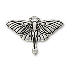 TierraCast Luna Moth Pendant Link, Antiqued Silver-Plated Pewter (T2132)
