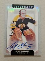 GERRY CHEEVERS 2019-20 UPPER DECK CHRONOLOGY 18-19 UPDATE AUTO BOSTON BRUINS