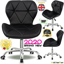 Swivel Office Chair PU Leather Cushioned Executive Home Computer Adjustable UK
