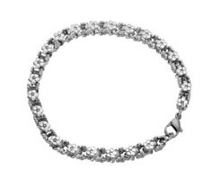 Acero Inoxidable Pulsera Flores Mujer stainless steel joyas