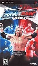 Sony PSP WWE Smackdown vs Raw 2007 Video Game. Full case game with manual.