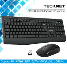 TeckNet 2.4GHz USB Wireless Gaming Keyboard and Mouse Set Combo for PC Laptop UK