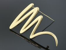 Vintage Tiffany & Co. Paloma Picasso 18K Yellow Gold Zig Zag Scribble Pin/Brooch