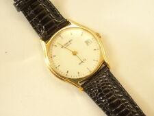 Raymond Weil Model 5801 Ladies 18k Gold EP Quartz Date Watch White Dial