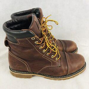 "Timberland Chestnut Ridge Waterproof Mens 6"" Leather Boot Size 9.5 Brown A128U"