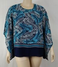 NEW Black Pepper Blue 3/4 Batwing Sleeve Overlay Top Tunic Size 16 BNWT #S30