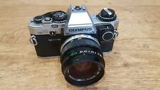 Olympus OM10 35mm SLR Film Camera with 1.8 50mm Lens Kit
