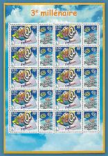 FRANCE 2000 BLOC F3365** FEUILLET 3ème MILLENAIRE BF LUXE Sc 2792 FULL SHEET MNH