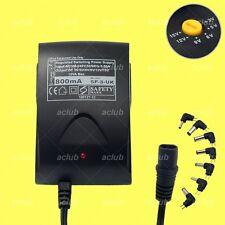 800mA Multi-Voltage 3V-5V-6V-9V-12V-15V Regulated AC/DC Switching Power Supply