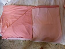 Vintage 1980s poly cotton single 2 tone duvet cover & P.case pink John Lewis