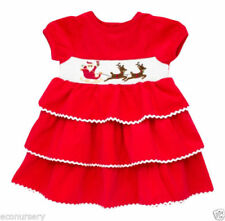 Holiday Embroidered Dresses (0-24 Months) for Girls