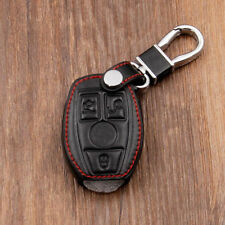 Smart Key Cover Leather Case Holder For Mercedes Benz Remote 3 4 Buttons C E S G