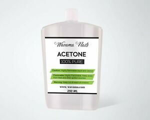 100% Pure Acetone Nail Polish Remover UV/LED Gel Soak Off 30ml 100ml 250ml 500ml