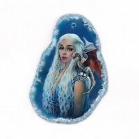 Color Printing Fox Agate Gemstone Pendant Necklace H1902 1664