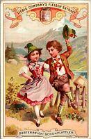 c 1892 LIEBIG S-340 NATIONAL DANCES III Italy Polland 6 Victorian Trade Card Set