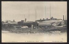 POSTCARD FAIRHAVEN MASSACHUSETTS/MA LOCAL AREA SHIP BUILDING OAT YARD 1902