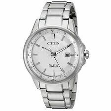 Citizen Hombres AW1490-50A Eco-drive Acero Inoxidable Reloj De Tono Plata Fecha Día