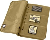 Coyote Brown Tan Tactical Patch Storage Book Collection Holder Morale Case
