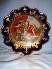 Royal Vienna HP artist signed Eduard Baerschneider Campaspe Apelles 9.25'plate