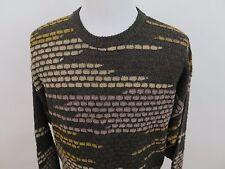 Bugatchi Uomo Wool Acrylic Textured Brick Crewneck Sweater XXL 2XL Made in Italy