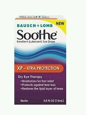 2x Bausch - Lomb Soothe XP Emollient Lubricant Eye Drops 0.5 oz Bottles not seal
