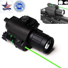 US Tactical Combo Cree Led Flashlight + Green Laser Sight For Pistol Gun Glock