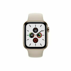 Apple Watch Series 5 44mm Stainless Steel Case Gold Strap - (MWWH2B/A) GOLD