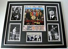 Sir Peter Blake SIGNED FRAMED Huge Photo Autograph display Beatles Music Art COA
