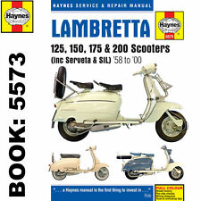 Lambretta 125 150 175 200 Scooters 1958-2000 Haynes Workshop Manual