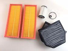 FILTRO OLIO 2 X FILTRO ARIA 2 x carbone attivo filtro SL r230 280 300 350 500 BENZINA