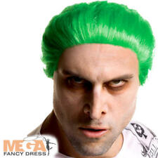 The Joker's Wig Mens Fancy Dress Halloween Villain Suicide Squad Costume Wig New